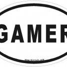 Gamer Oval Car Sticker