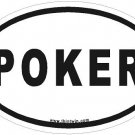 Poker Oval Car Sticker