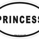 Princess Oval Car Sticker