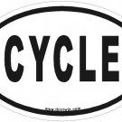 Cycle Oval Car Sticker