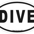 Dive Oval Car Sticker