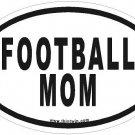 Football Mom Oval Car Sticker