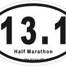 Half Marathon Oval Car Sticker