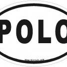 Polo Oval Car Sticker