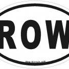 Row Oval Car Sticker