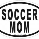 Soccer Mom Oval Car Sticker