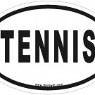Tennis Oval Car Sticker