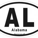 Alabama Oval Car Sticker