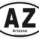 Arizona Oval Car Sticker