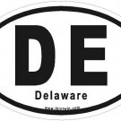 Delaware Oval Car Sticker