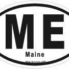 Maine Oval Car Sticker