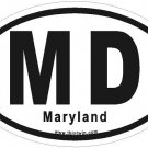 Maryland Oval Car Sticker
