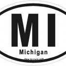 Michigan Oval Car Sticker