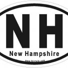 New Hampshire Oval Car Sticker