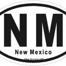 New Mexico Oval Car Sticker