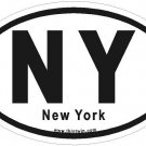 New York Oval Car Sticker