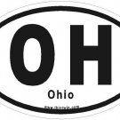 Ohio Oval Car Sticker
