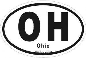 Ohio Oval Car Sticker