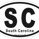 South Carolina Oval Car Sticker