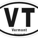Vermont Oval Car Sticker