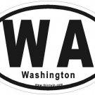 Washington Oval Car Sticker