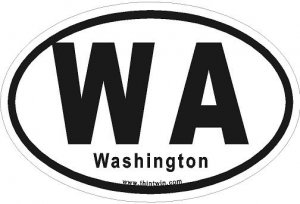 Washington Oval Car Sticker