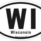 Wisconsin Oval Car Sticker