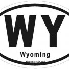 Wyoming Oval Car Sticker