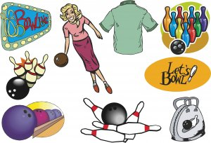 Bowling Retro Wall Decal Assortment Packs