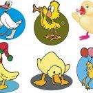 Ducks Cartoon Wall Decal Assortment Packs