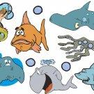 Fish Cartoon Wall Decal Assortment Packs