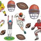 Football Cartoon Wall Decal Assortment Packs