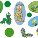 Insects Cartoon Wall Decal Assortment Packs