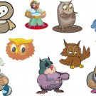 Owl Cartoon Wall Decal Assortment Packs