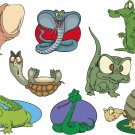 Reptile Cartoon Wall Decal Assortment Packs