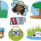 Safari Cartoon Wall Decal Assortment Packs
