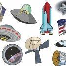 Space Cartoon Wall Decal Assortment Packs