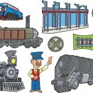 Train Cartoon Wall Decal Assortment Packs