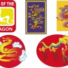 Chinese Dragons Wall Decal Assortment Packs