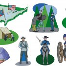 Civil War Wall Decal Assortment Packs