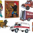 Firetrucks and Firemen Wall Decal Assortment Packs