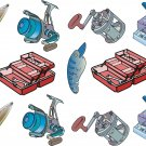 Fishing Wall Decal Assortment Packs