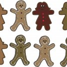 Gingerbread Man Wall Decal Assortment Packs