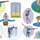 Gymnastics Wall Decal Assortment Packs