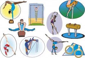 Gymnastics Wall Decal Assortment Packs