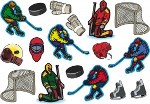 Hockey Wall Decal Assortment Packs