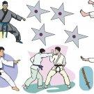 Karate Wall Decal Assortment Packs
