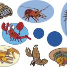 Lobsters Wall Decal Assortment Packs