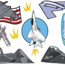 Military Planes Wall Decal Assortment Packs