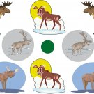 Moose Wall Decal Assortment Packs